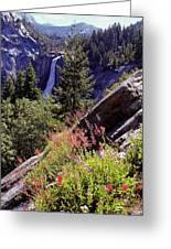 Nevada Falls Yosemite National Park Greeting Card