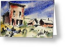 Nevada Ghost Town Greeting Card