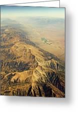 Nevada Mountain Terrain Aerial Greeting Card