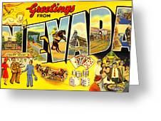 Nevada Postcard Greeting Card