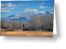 Nevada Ranch In Winter Greeting Card
