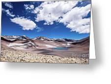 Nevado Ojos Del Salado And Laguna Negra Greeting Card