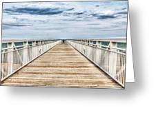 Never Ending Beach Pier Greeting Card