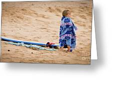 Never Too Young To Surf Greeting Card