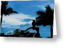 Nevermore In The Tropics Greeting Card