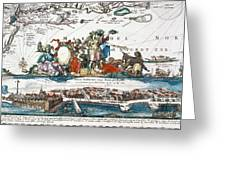 New Amsterdam, 1673 Greeting Card
