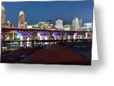 New Bridge Pano Greeting Card