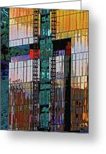 New Building Reflecting Colors Greeting Card