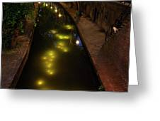 New Canal In Utrecht In The Evening 7 Greeting Card