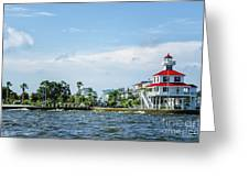 New Canal Lighthouse And Lakefront - Nola Greeting Card