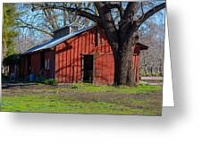 New Clairvaux Abbey Barn Greeting Card