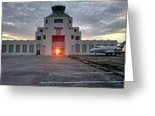 New Dawn For An Old Airport Greeting Card