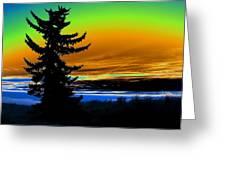 New Dawn In Spokane Greeting Card