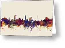 New Delhi India Skyline Greeting Card