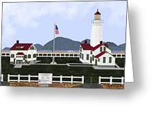 New Dungeness Lighthouse At Sequim Washington Greeting Card
