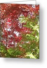 New England Autumn Globe Greeting Card