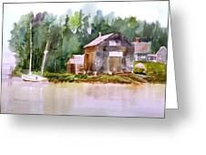 New England Boat Repair Greeting Card