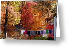 New England Color In October  Greeting Card