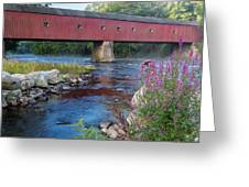 New England Covered Bridge Connecticut Greeting Card