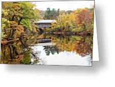 New England Covered Bridge No.63 Greeting Card