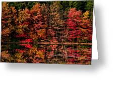 New England Fall Foliage Reflection Greeting Card