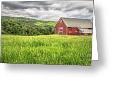 New England Farm Landscape Greeting Card