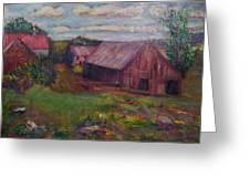 New England Farm Greeting Card