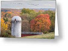 New England Fly Over Square Greeting Card