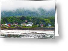 Granville Ferry Nova Scotia Canada  Fog Lifting Greeting Card