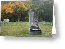 New England Graveyard During The Autumn  Greeting Card