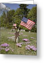 New England Graveyard Greeting Card