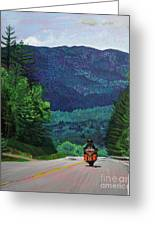New England Journeys - Motorcycle 2 Greeting Card