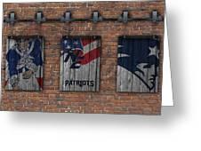 New England Patriots Brick Wall Greeting Card