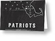 New England Patriots Art - Nfl Football Wall Print Greeting Card by Damon Gray