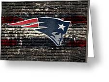 New England Patriots Nfl Football Greeting Card