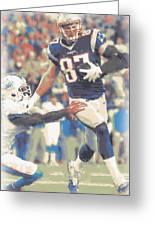 New England Patriots Rob Gronkowski 3 Greeting Card