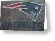New England Patriots Translucent Steel Greeting Card