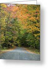 New England Road Greeting Card