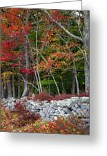New England Stonewall Greeting Card