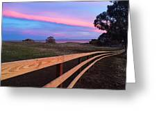 New Fence And New Grass Greeting Card