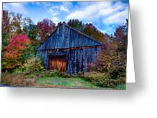 New Hampshire Barn Eaton Nh Greeting Card