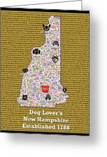 New Hampshire Loves Dogs Greeting Card
