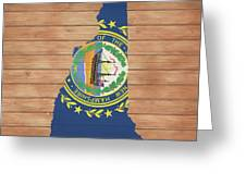 New Hampshire Rustic Map On Wood Greeting Card