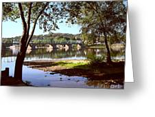 New Hope Lambertville Bridge Greeting Card
