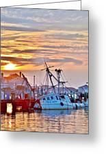 New Hope Sunrise - Sunken Ship At West Ocean City Harbor Greeting Card