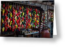 New Mexico Hanging Peppers Greeting Card