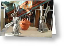 New Mexico Rabbits Greeting Card