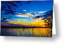 New Mexico Sun Set Greeting Card