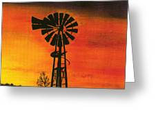 New Mexico Sunset Greeting Card