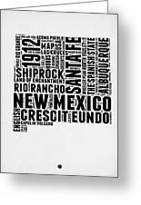 New Mexico Word Cloud Map 2 Greeting Card